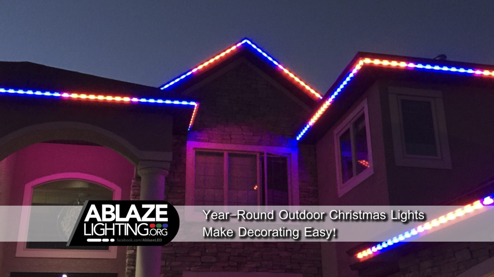year round outdoor christmas lights make decorating easy